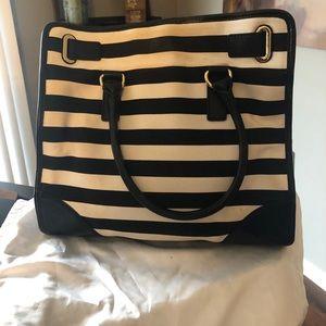 MICHAEL Michael Kors Bags - Michael Kors Hamilton Tote lrg black white stripe